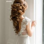 Peinado elegante en coleta