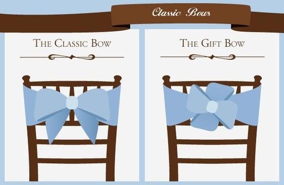 Como decorar las sillas para tu boda: Estilos diferentes de lazos