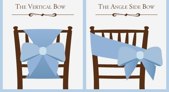 Telas para sillas de boda
