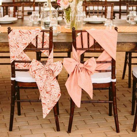 Como decorar las sillas de tu boda