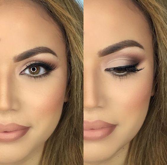 errores de maquillaje de ojos: Maquillaje para ojos marrones