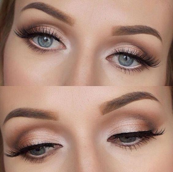 Maquillaje marrón para ojos