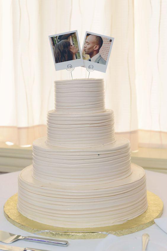 Tarta de boda sencilla