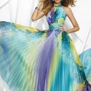 Vestido largo plisado para bodas