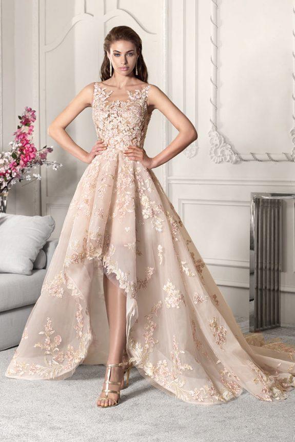 Vestido novia asimétrico