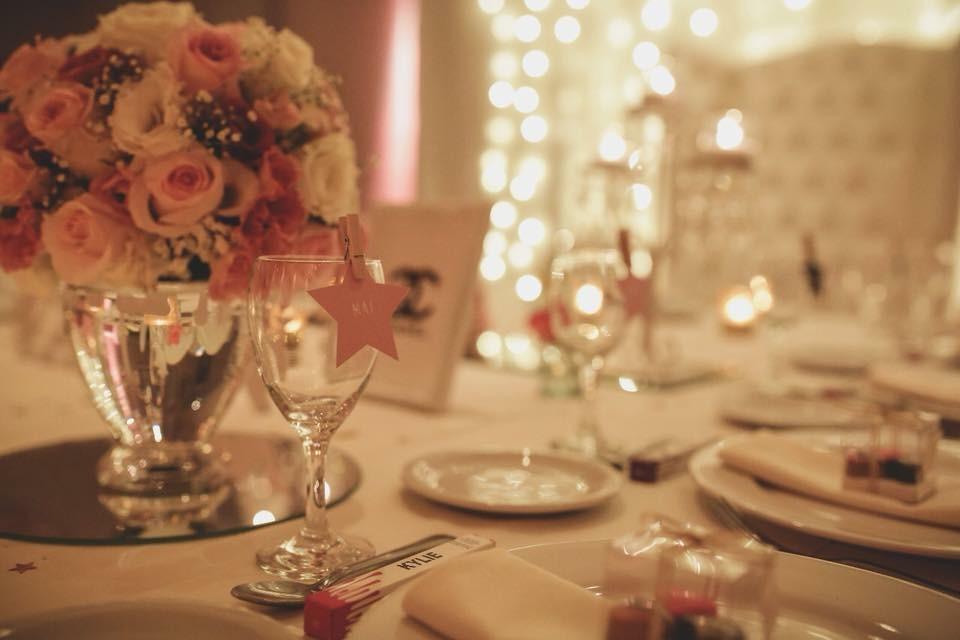 Decoración romántica para bodas